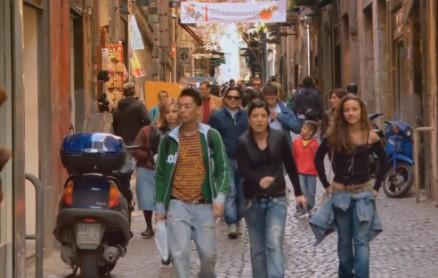Jugendlichen in Neapel